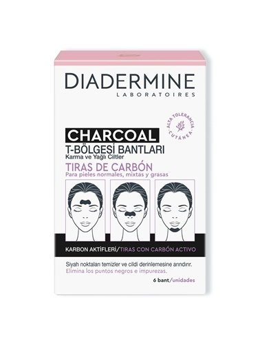 Diadermine Diadermine Kömürlü Tbölgesi Bantları 6'Lı Renksiz